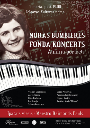 "Noras Bumbieres fonda koncerts ""Atmiņu portrets"""
