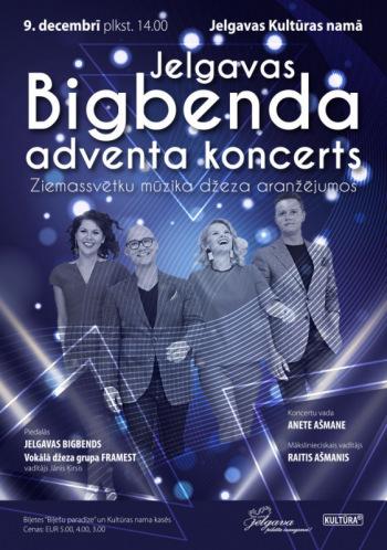 Jelgavas Bigbenda Adventa koncerts ar vokālo džeza grupu FRAMEST