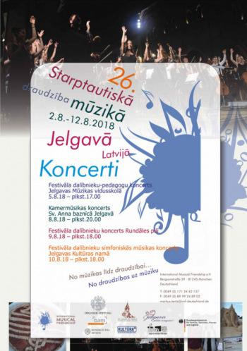 26. IMF Jelgava 2018 Simfoniskās mūzikas koncerts