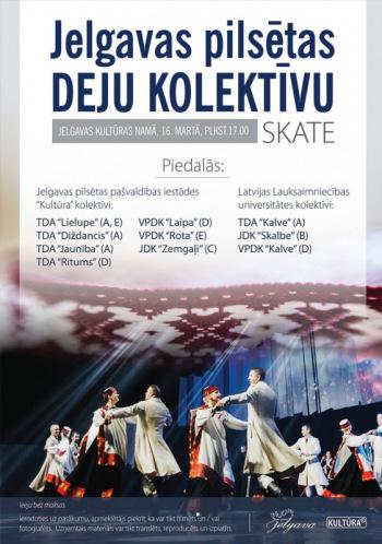 Jelgavas pilsētas deju kolektīvu skate