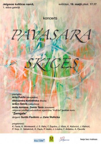 "Jelgavas jauktā kora ""Zemgale"" koncerts ""PAVASARA SKICES"""