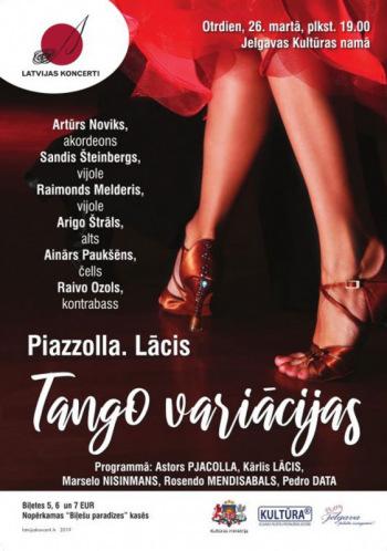 """Koncerts """"Piazzolla. Lācis. Tango variācijas"""""""