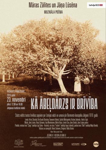 """Māras Zālītes un Jāņa Lūsēna muzikāla poēma """"Kā ābeļdārzs ir brīvība"""""""