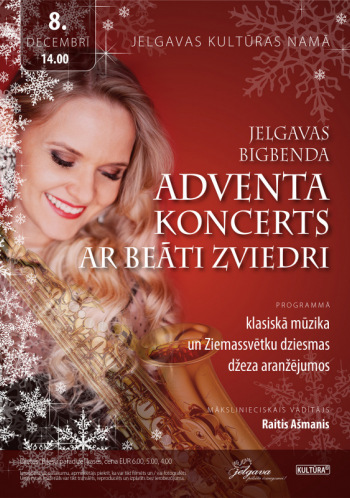 Jelgavas Bigbenda Adventa koncerts ar Beāti Zviedri