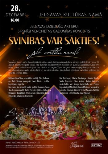 """Jelgavas dziedošo aktieru sirsnīgi nenopietns gadumijas koncerts """"Svinības var sākties!"""""""
