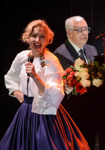 """Ance Krauze un Raimonds Pauls koncertā """"Sasala jūrīna"""""""