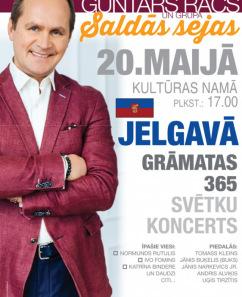 """G. Rača grāmatas """"365"""" svētku koncerts"""