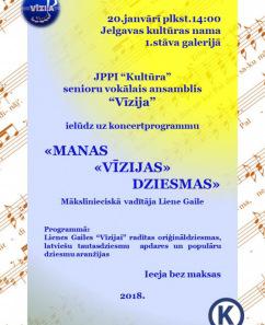 """JPPI """"Kultūra"""" senioru vokālā ansambļa koncerts """"Vīzijai -6"""""""