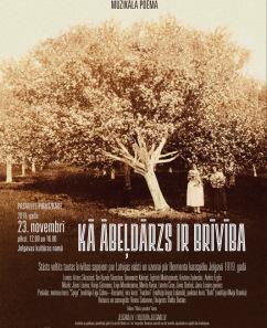"""Māras Zālītes un Jāņa Lūsēna muzikālā poēma """"Kā ābeļdārzs ir brīvība!"""""""