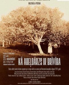 """Muzikālā poēma """"Kā ābeļdārzs ir brīvība!"""", Latvijas pirmatskaņojums"""