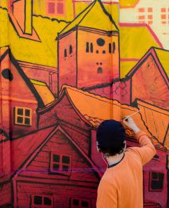 """Ielu mākslas festivāls """"Grafiti. Izlaušanās. Jelgava."""" 2021"""