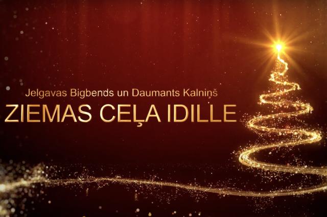 """Jelgavas Bigbends un Daumants Kalniņš tiešsaistes koncertā """"Ziemas ceļa idille"""""""